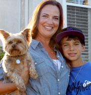 Happy Mom, Child and Dog