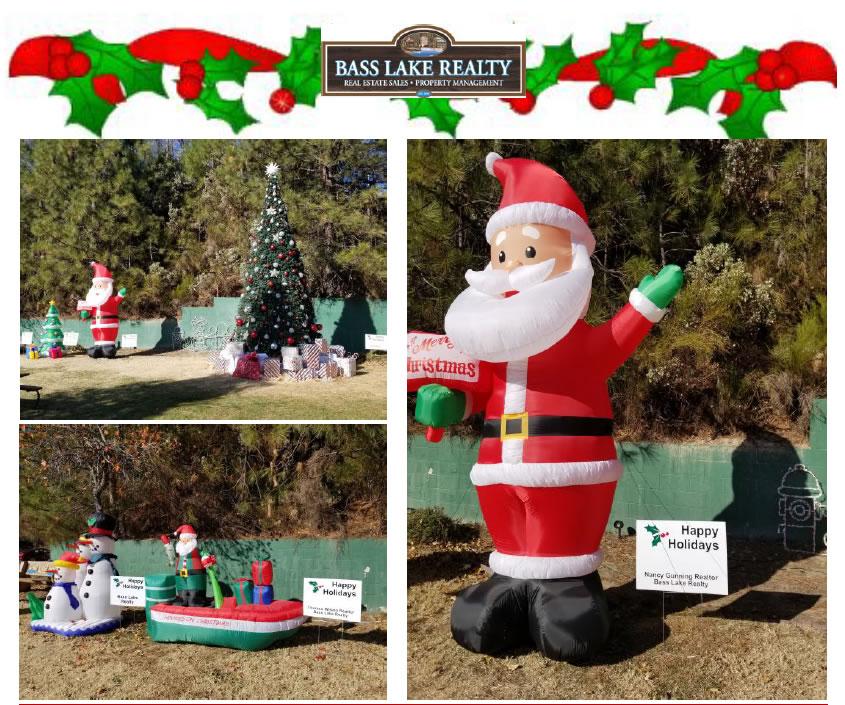 Santa and Elves Holiday Spirit Image Bass Lake Realty