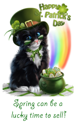 St Patrick's Day Image Cat with Hat and Rainbow Yosemite Bass Lake News March 2021