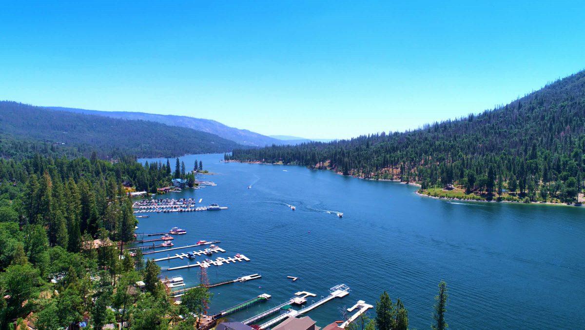 Aerial Image of Bass Lake California Bass Lake Realty